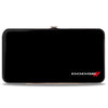Hinged Wallet - DODGE Red Rhombus Corner Black Silver Red