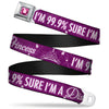 Princess Gem Full Color Fuchsia Seatbelt Belt - I'M 99.9% SURE I'M A DISNEY PRINCESS Pinks/White Webbing