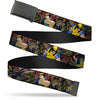Black Buckle Web Belt - Wolverine 3-Action Poses/Comic Scene Blocks Webbing