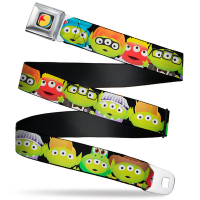 Disney Pixar Luxo Ball2 Full Color Black/Yellow/Blue/Red Seatbelt Belt - Toy Story Aliens Pixar 17-Character Cosplay Webbing