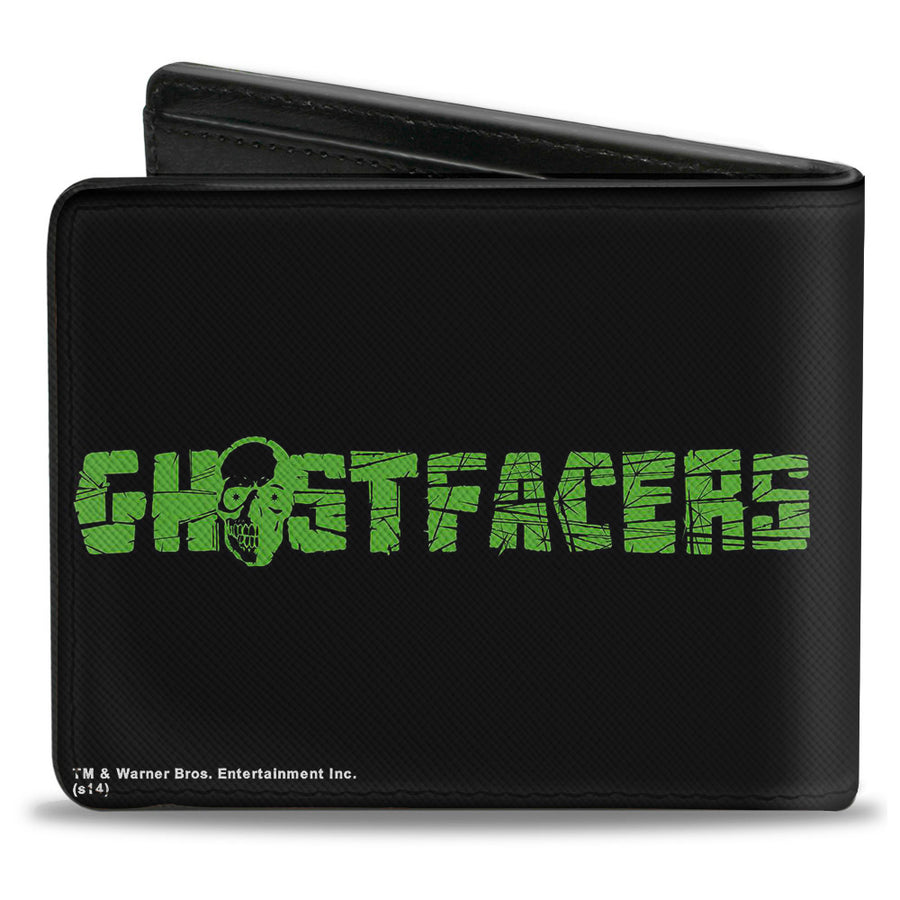 Bi-Fold Wallet - GHOSTFACERS Logo Black Green