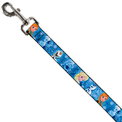 Dog Leash - Frozen Character Poses Blues