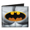 Canvas Bi-Fold Wallet - Justice Leaue Supreme Team Batman Chest Logo Grays Yellow Black
