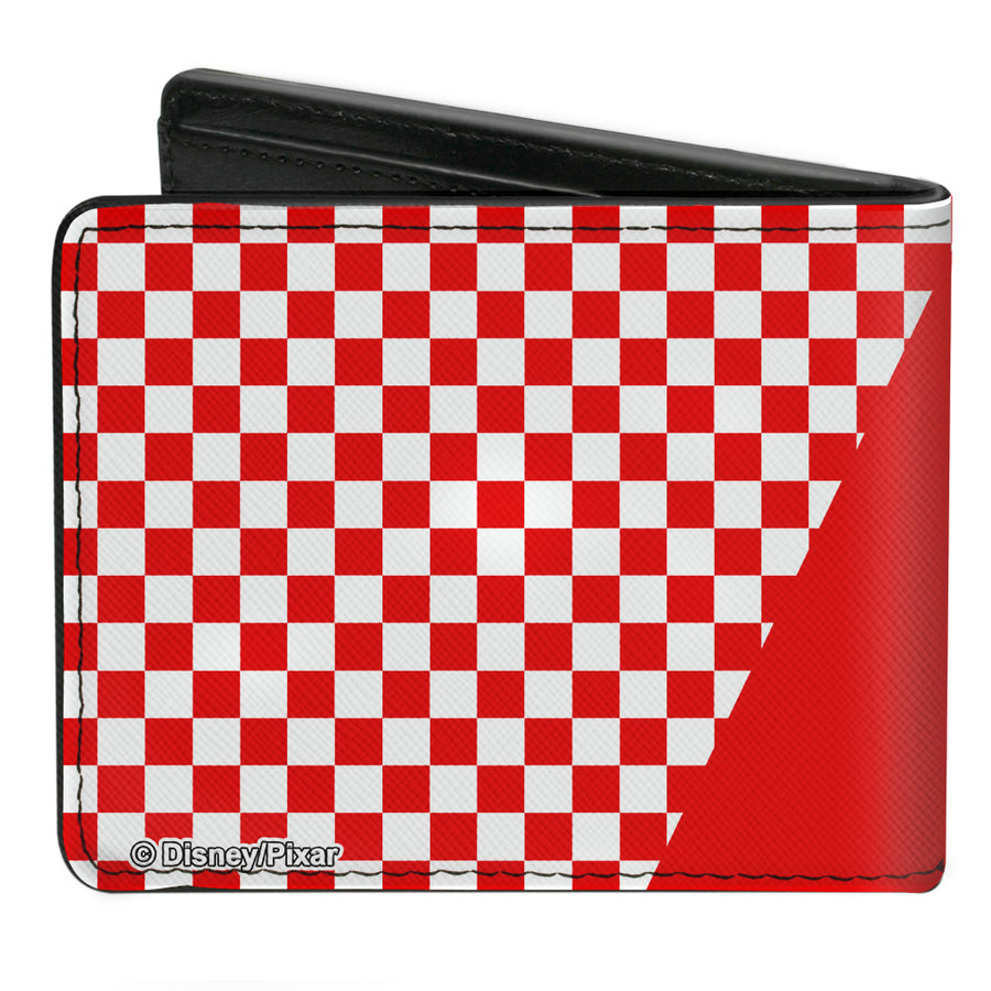 Bi-Fold Wallet - Toy Story PIZZA PLANET SERVING YOUR LOCAL STAR CLUSTER + Checker Red White