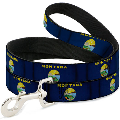 Dog Leash - Montana Flags