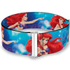 Cinch Waist Belt - Ariel Vivid Underwater Sparkle Poses Castle