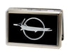 Business Card Holder - LARGE - Barracuda Emblem FCG Black Silver