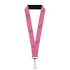"Lanyard - 1.0"" - Ford Mustang w Bars w Text PINK REPEAT"