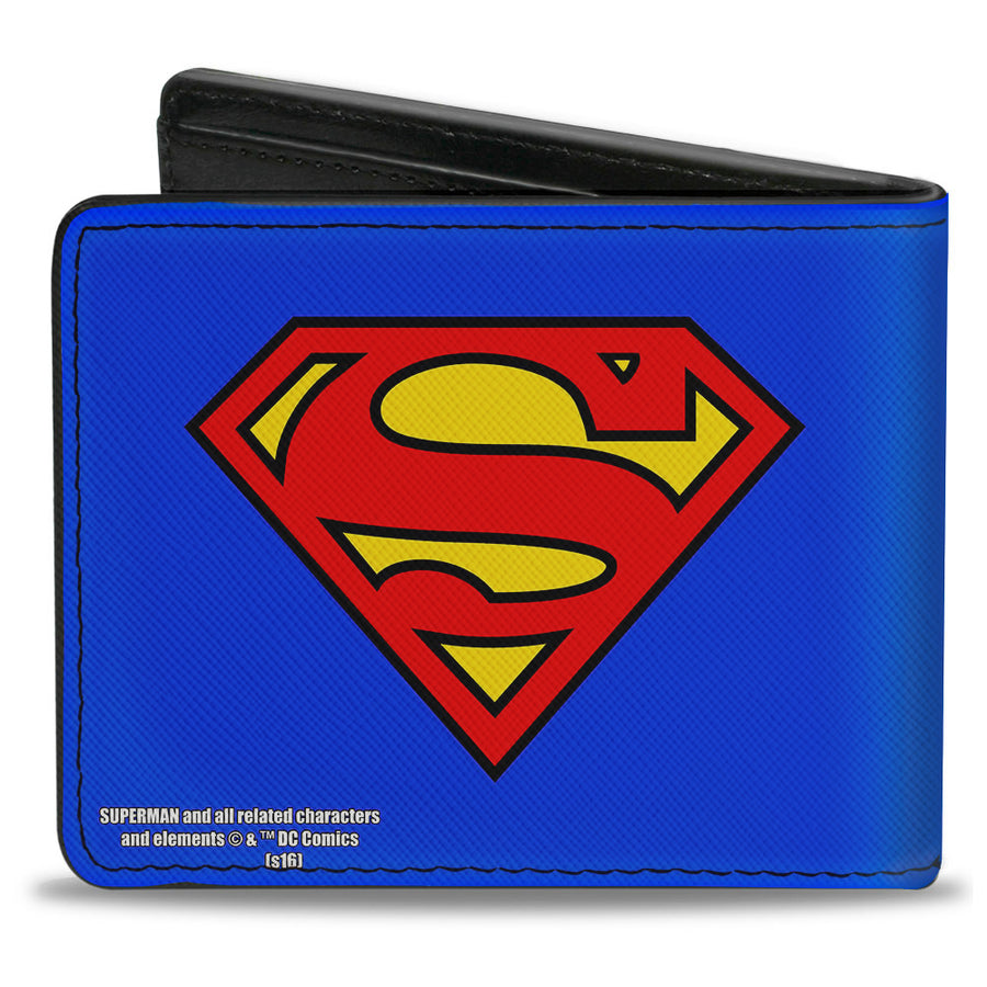 Bi-Fold Wallet - Superman Shield Blue Red Yellow