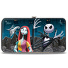 Hinged Wallet - Nightmare Before Christmas Zero Sally Jack + Oogie Boogie Cemetery Scene