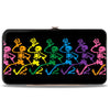 Hinged Wallet - Dancing Skeletons Black Multi Color