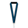 "Lanyard - 1.0"" - Chevy Bowties 3-Row Black Blue"