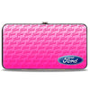 Hinged Wallet - Ford Oval CORNER w Text PINK