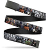 Black Buckle Web Belt - ARKHAM CITY 9-Character Group Grays/White Webbing Webbing