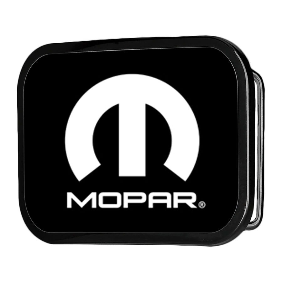 MOPAR Logo FCG Black White - Black Rock Star Buckle