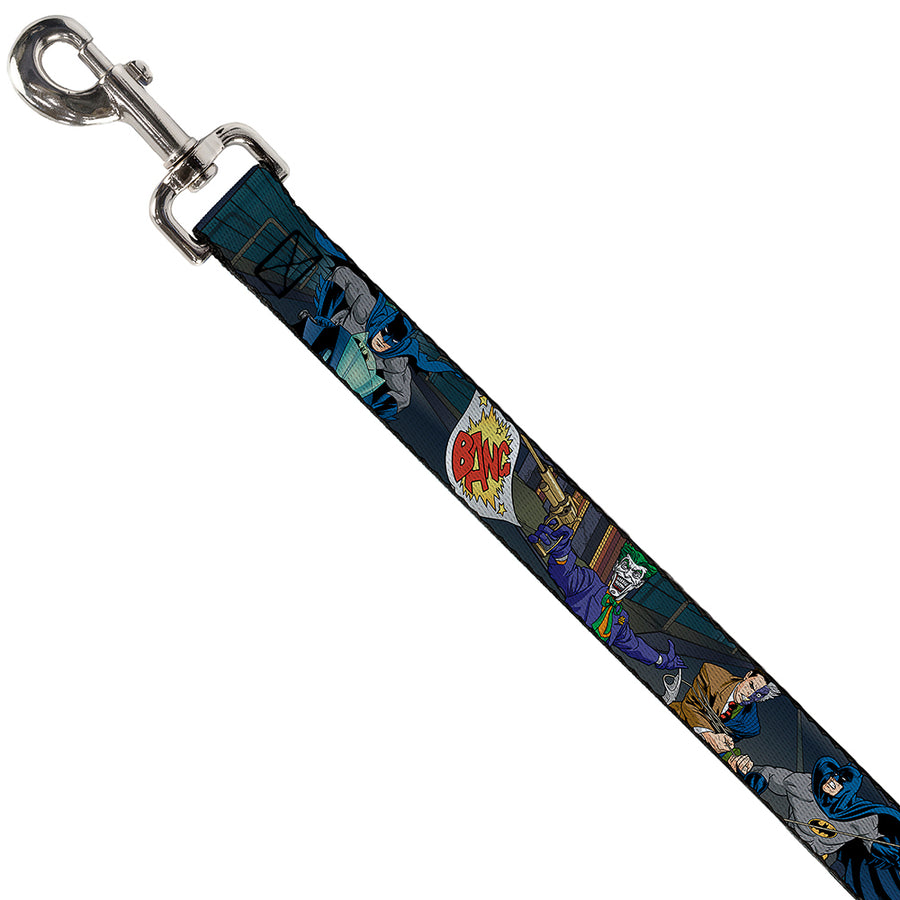 Dog Leash - Batman Battling Villains in Tunnel