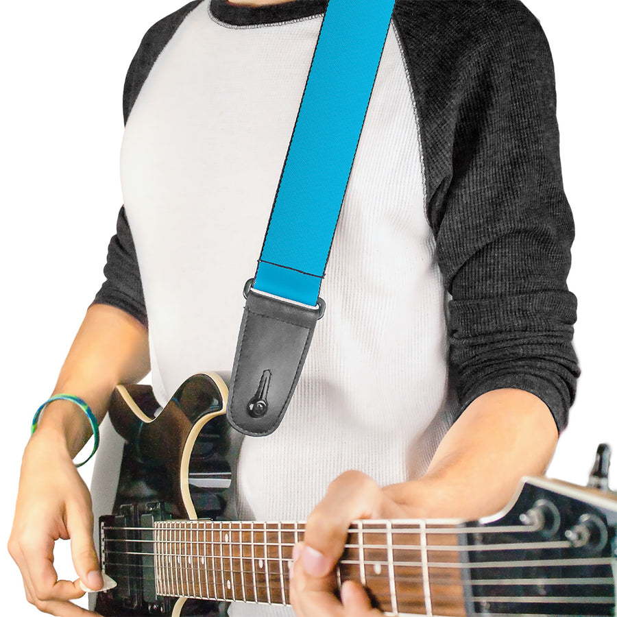 Guitar Strap - Solid Water Blue