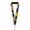 "Lanyard - 1.0"" - Bat Shield Urban Legend Action Poses Fire Full Color Golden Yellow"