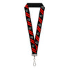 "Lanyard - 1.0"" - Demon Dodge Rhombus Hellcat Icons Black Red White"