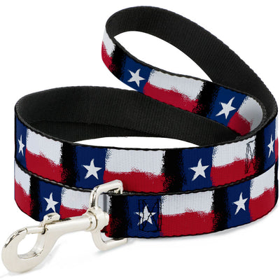 Dog Leash - Texas Flag Painting