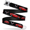 C7 Full Color Black Seatbelt Belt - C7 Logo/Red C7 Side/Front/Rear Views Black Webbing