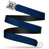 MOPAR Logo Full Color Black White Seatbelt Belt - Navy Webbing