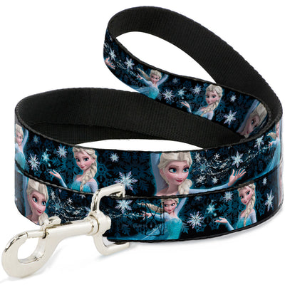 Dog Leash - Elsa the Snow Queen Poses PERFECT AND POWERFUL Blues/White