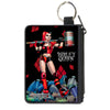 Canvas Zipper Wallet - MINI X-SMALL - HARLEY QUINN Issue #1 Roller Derby Hammer Cover Pose