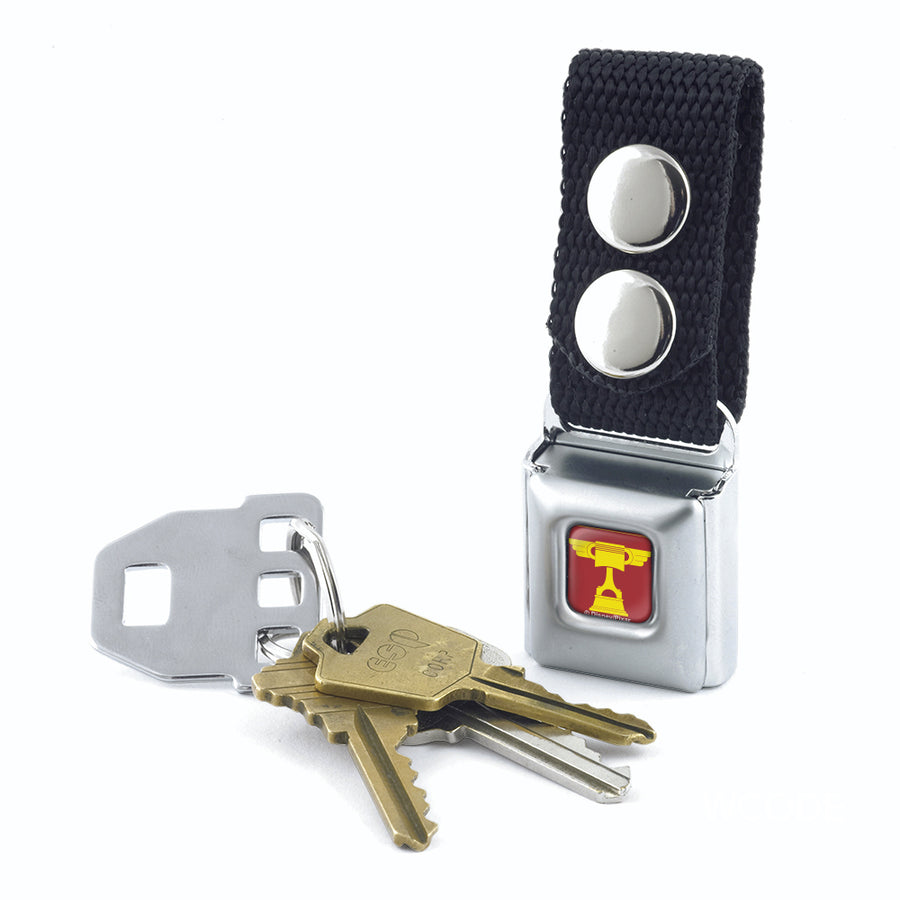 Keychain - Cars Piston Cup Trophy Full Color Red Yellow