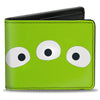 Bi-Fold Wallet - Toy Story Alien Eyes + SPACE ALIENS! Green White Blue
