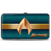 Hinged Wallet - AQUAMAN Icon Scales Stripe Blues Golds