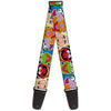 Guitar Strap - Muppets Faces CLOSE-UP Black