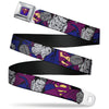 Bizzaro Logo Full Color Blue Seatbelt Belt - Bizzaro Action Webbing