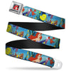 Ariel CLOSE-UP Full Color Seatbelt Belt - Ariel, Sebastian & Flounder Scene Webbing