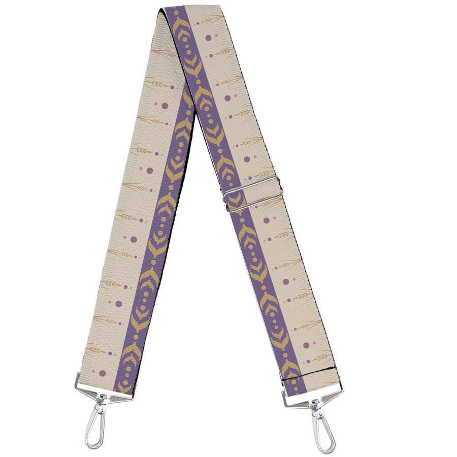 Purse Strap - Frozen II Anna Bounding Tan Purples Gold