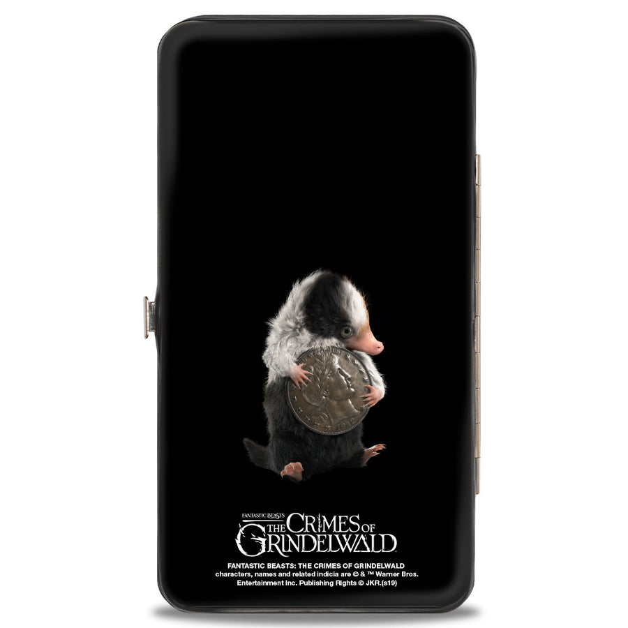 Hinged Wallet - Fantastic Beasts The Crimes of Grindelwald Baby Niffler's Stacked + Baby Niffler Coin Pose