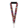 "Lanyard - 1.0"" - Descendants 11-Character Group Pose Reds Gray"