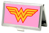 Business Card Holder - SMALL - Wonder Woman Logo FCG Pink
