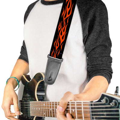 Guitar Strap - Flame Orange