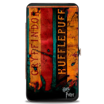 Hinged Wallet - HARRY POTTER 4-Hogwarts House Banners
