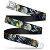 KEYBOARD CAT Logo White Full Color Seatbelt Belt - Keyboard Cat Moon Poses Webbing
