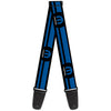 Guitar Strap - MOPAR Logo Stripe Black Blue