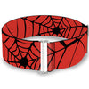 MARVEL COMICS Cinch Waist Belt - Spiderweb Red Black