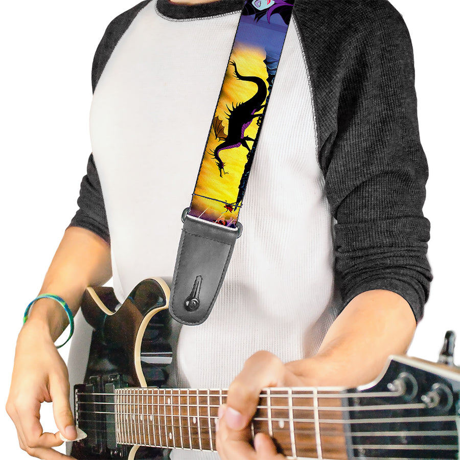 Guitar Strap - Maleficent Poses