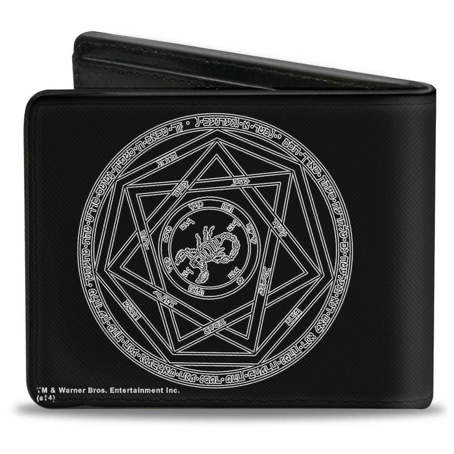 Bi-Fold Wallet - Supernatural Devil's Trap Pentagram Black White