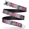 SEXY INK GIRLS Full Color Black White Seatbelt Belt - No Glove, No Love Webbing