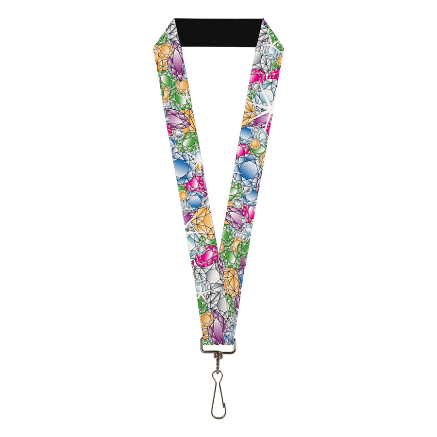 "Lanyard - 1.0"" - Gems Stacked Multi Color"