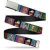 Chrome Buckle Web Belt - THE BIG BANG THEORY Character Blocks w/Logo Webbing