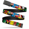 Black Buckle Web Belt - Marvel Superhero Comic Blocks Webbing
