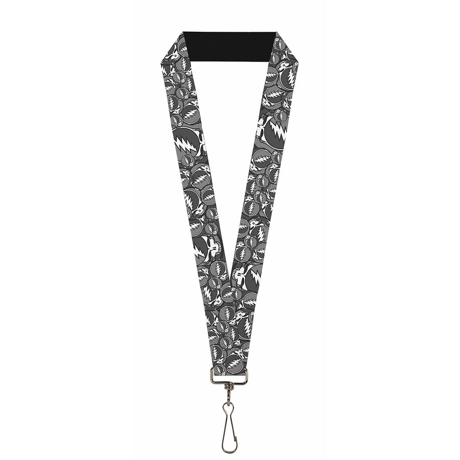 "Lanyard - 1.0"" - Steal Your Face Stacked Gray"